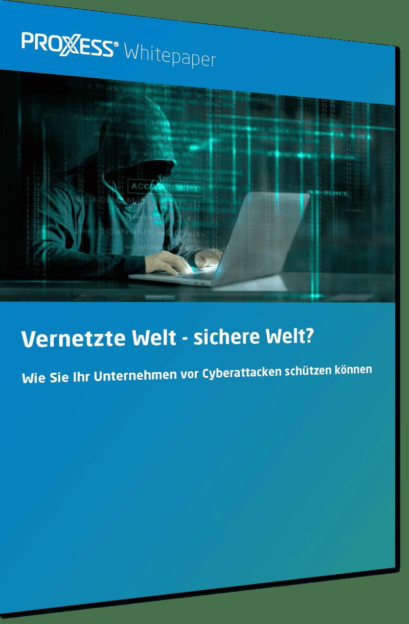 PROXESS Whitepaper Cybersecurity Seite 1 perspektivisch